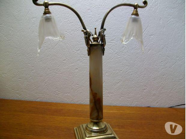 Lampe Ancienne Pied Onix Montherme 08800 Decoration Art