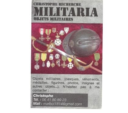 Photos Vivastreet achète objets , médailles , insignes militaires