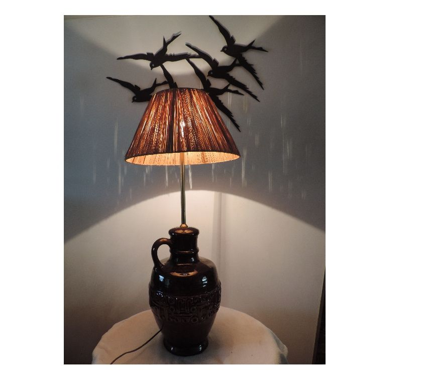Grande lampe de salon abat-jour raphia - Mours - 95260 ...