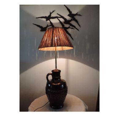 Photos Vivastreet Grande lampe de salon abat-jour raphia