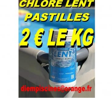 Photos Vivastreet CHLORE LENT PASTILLES BOITE DE 1 KG POUR 2 €