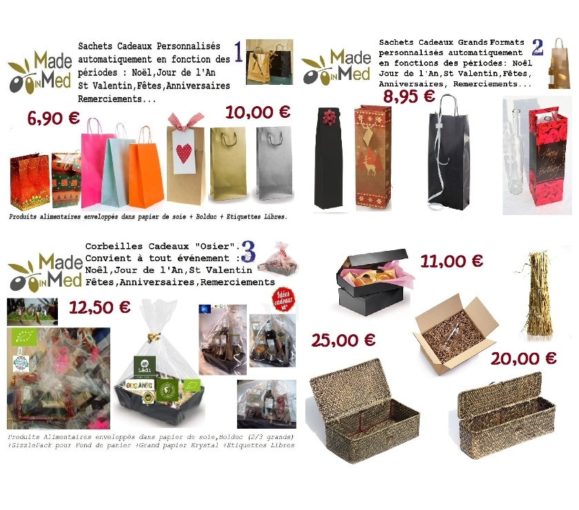 Photos Vivastreet Offres Emballages Cadeaux Made In Med . Kits et Corbeilles .