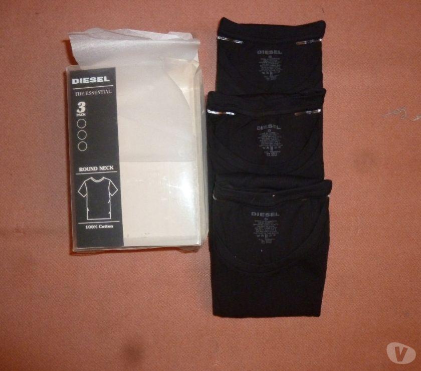 "Photos Vivastreet 3 t-shirts Diesel noirs ""The essential"""