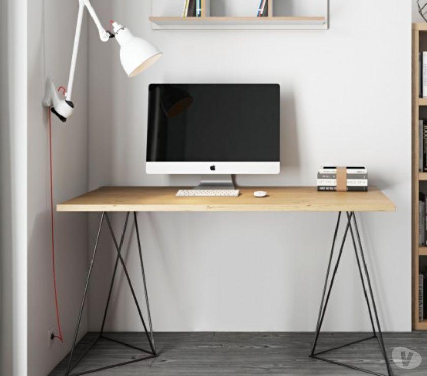 Ameublement & art de la table Nord Villeneuve d'Ascq - Photos Vivastreet Bureau avec pieds tréteaux Joséphine chêne et noir