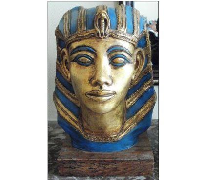 Photos Vivastreet Tête de PHARAON peint en bleu et or