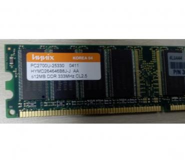 Photos Vivastreet RAM 512MB DDR 333MHz CL2.5 PC2700U-25330 0411 HYMD264646B8J