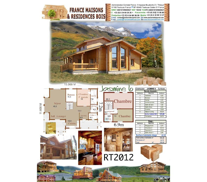Photos Vivastreet Maisons en bois Massif madriers lamellé collé (Jasmin 6)