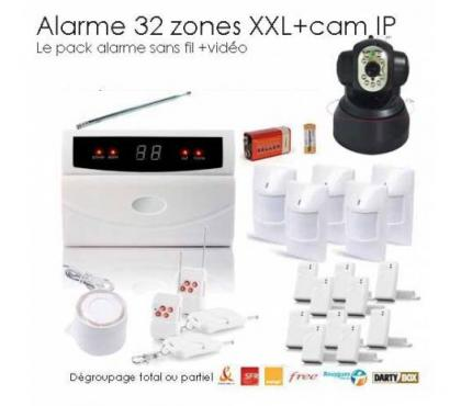 Photos Vivastreet Kit alarme de maison, 32 Zones XXL BOX et camera IP
