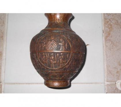 Photos Vivastreet vase en cuivre decoré (hindous?)