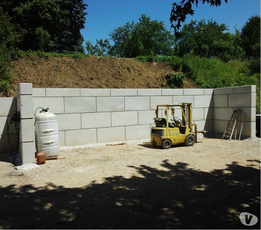 mur bloc béton soutènement préfabriqué gabion lego