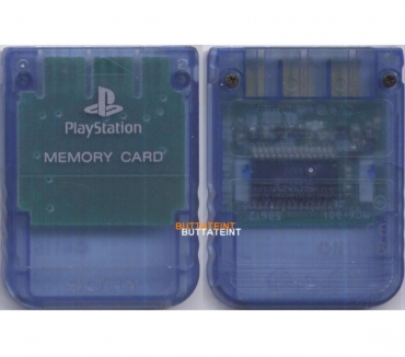 Photos Vivastreet PS123 - CARTE MEMOIRE OFFICIELLE PS1 SONY BLEU TRANSLUCIDE
