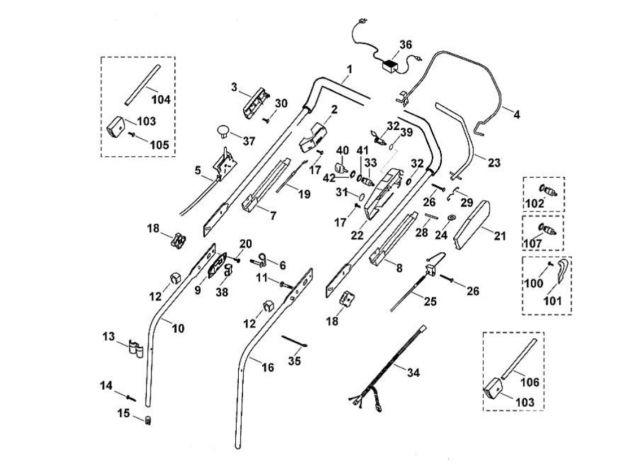 pi ces pour tondeuse viking mb 505 kat le val d 39 ajol. Black Bedroom Furniture Sets. Home Design Ideas