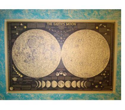 Photos Vivastreet Affiche parchemin 73 X 48 : Earth Moon