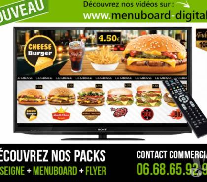 Photos Vivastreet Menuboard digital Menu board dynamique animé en HD