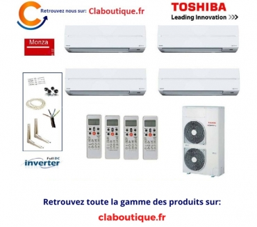 Photos Vivastreet Climatiseur reversible Toshiba Twin quadri split Monza 200 D