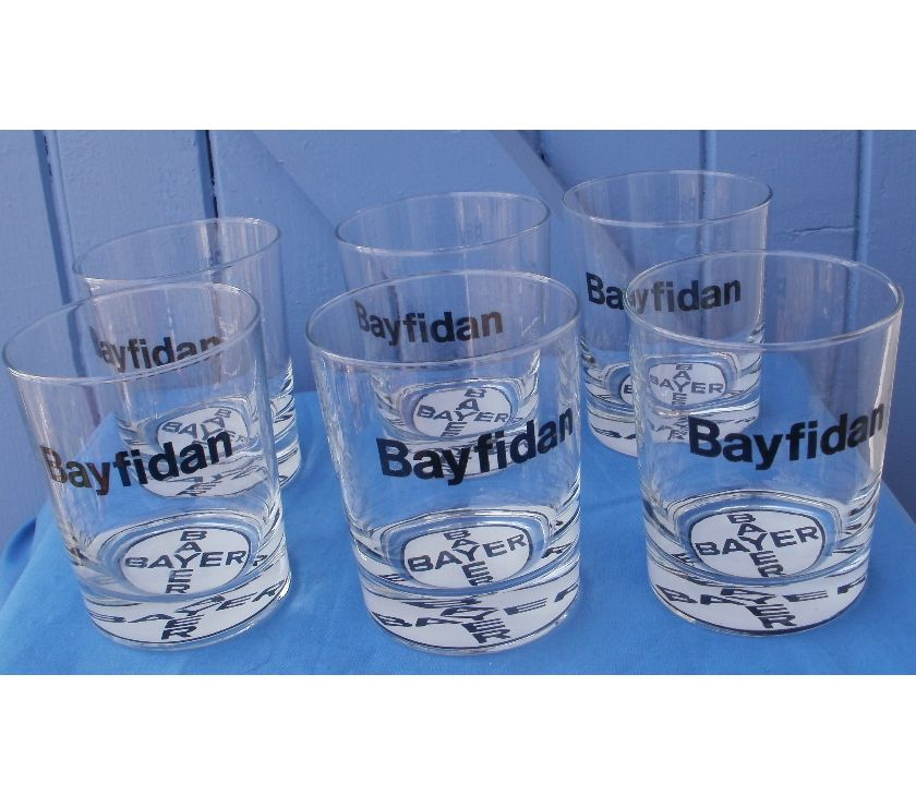 Photos Vivastreet 6 Verres à whisky estampillés BAYER BAYFIDAN