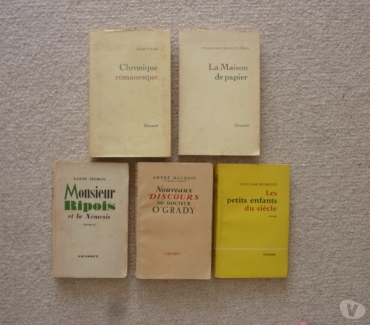 Photos Vivastreet 5 livres anciens collection Grasset