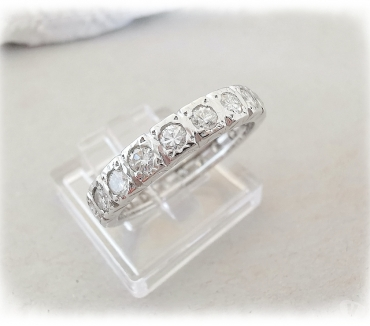 Photos Vivastreet Bague Alliance Américaine Diamants 0,90 ct Or blanc 18 K