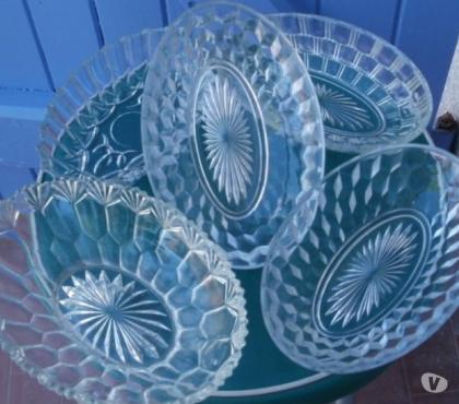 Photos Vivastreet Lot de 5 raviers en verre transparent