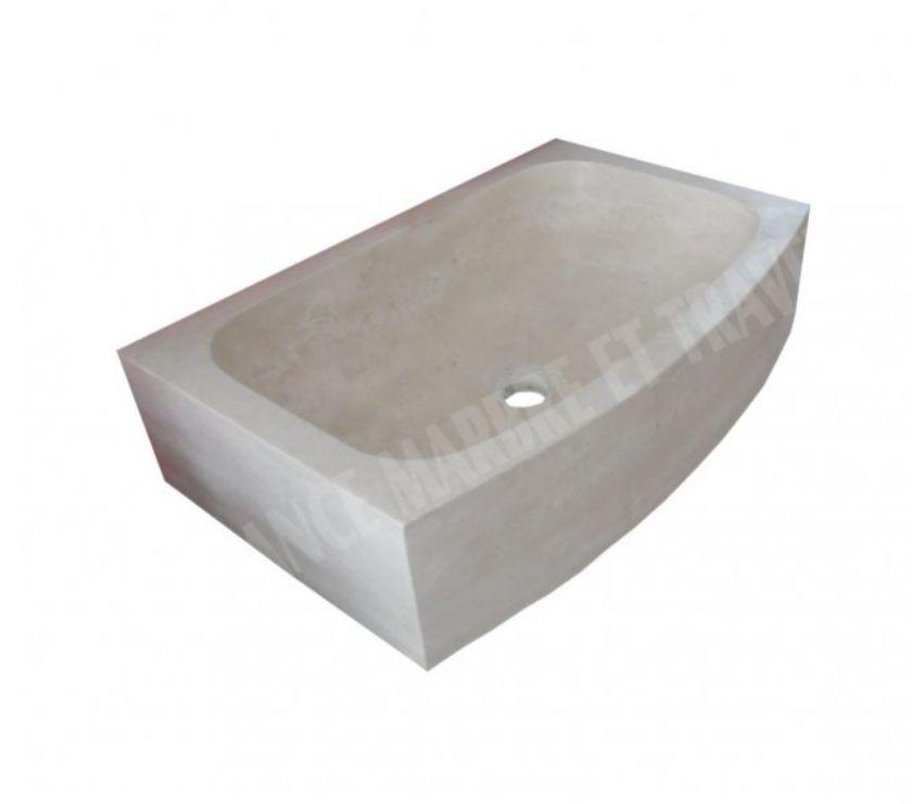 Travertin Classique Beige Evier 70x50 Cm Forcalqueiret 83136