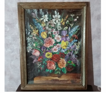 Photos Vivastreet Tableau bouquet de fleurs - Peinture toile - Très bon état