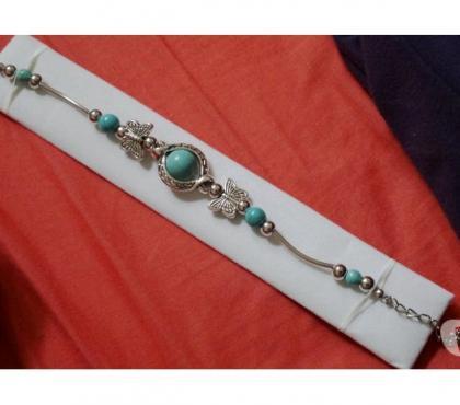 Photos Vivastreet Bracelet style bohème papillon bleue turquoise