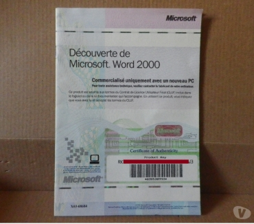 Photos Vivastreet Certificat d'authentification Word 2000