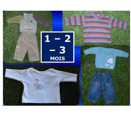 Photos Vivastreet PANTALONS + HAUTS bébé (1 - 2 - 3 mois)