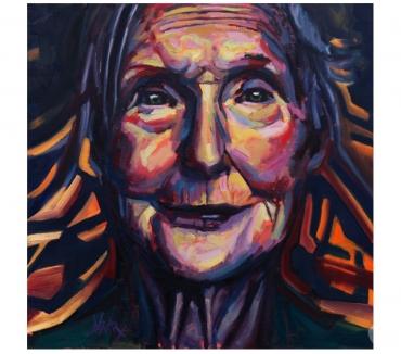 Photos Vivastreet Tableau Acrylique déco Portrait vieille femme serreine