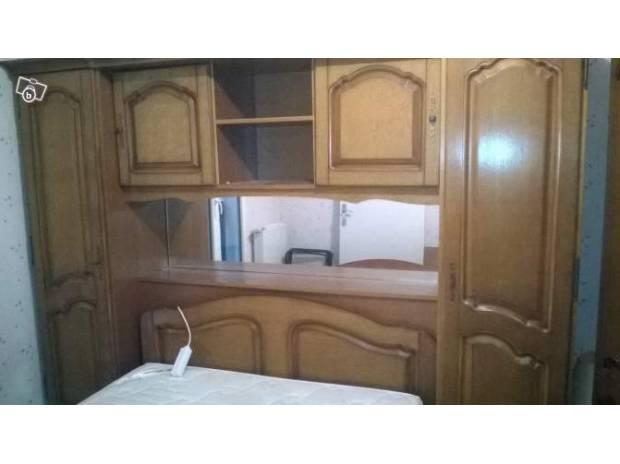 Chambre pont adulte avec armoire 4 portes meuble t l for Chambre pont adulte