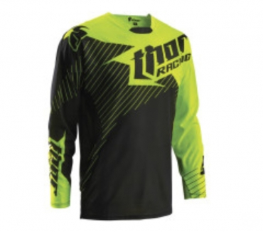 Photos Vivastreet MAILLOT MOTO CROSS CORE S6 HUX BLACK FLO GREEN THOR M,L&XL