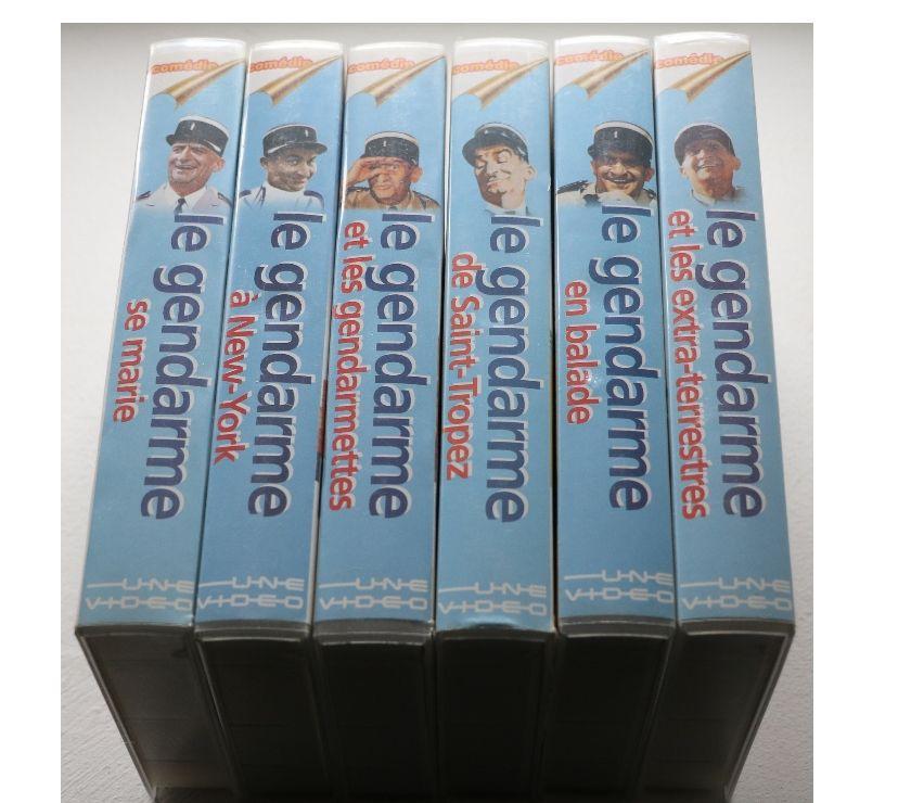 Collection Ardèche St Julien en St Alban - 07000 - Photos Vivastreet 6 K7 VHS secam intégrale LOUIS DE FUNES LE GENDARME .....