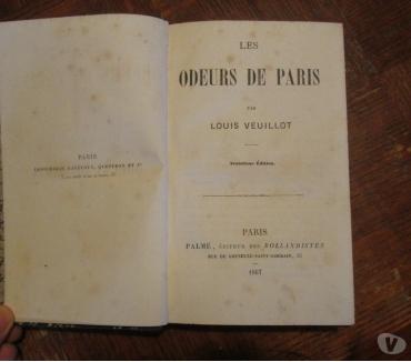 Photos Vivastreet Livre ancien Les Odeurs de Paris 1867