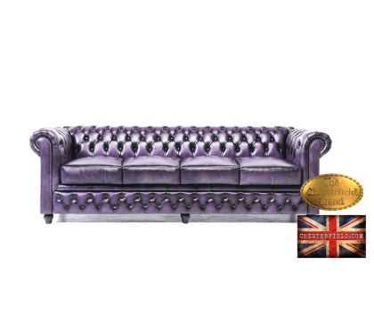 Photos Vivastreet Canapé Chesterfield Antique Violet 4 places