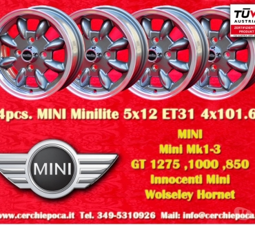 Photos Vivastreet 4 jantes MINI Minilite 5x12 4x101.6 TUV Wheels