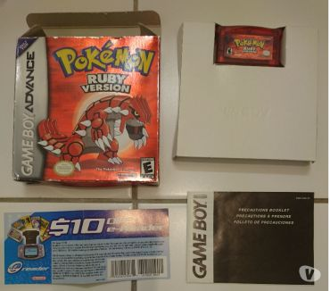 Photos Vivastreet Pokemon Ruby (US English) Nintendo Game Boy Advance