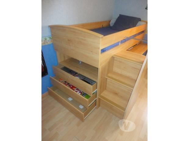 lit compact gautier tres bon etat fab francaise toulouse 31100 meubles pas cher d. Black Bedroom Furniture Sets. Home Design Ideas