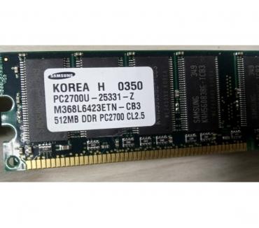 Photos Vivastreet Barrette RAM SAMSUNG 512MB DDR PC2700U-25331-Z CL2.5 M368L64