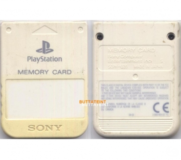 Photos Vivastreet PS123 - CARTE MEMOIRE OFFICIELLE PS1 SONY BLANCHE