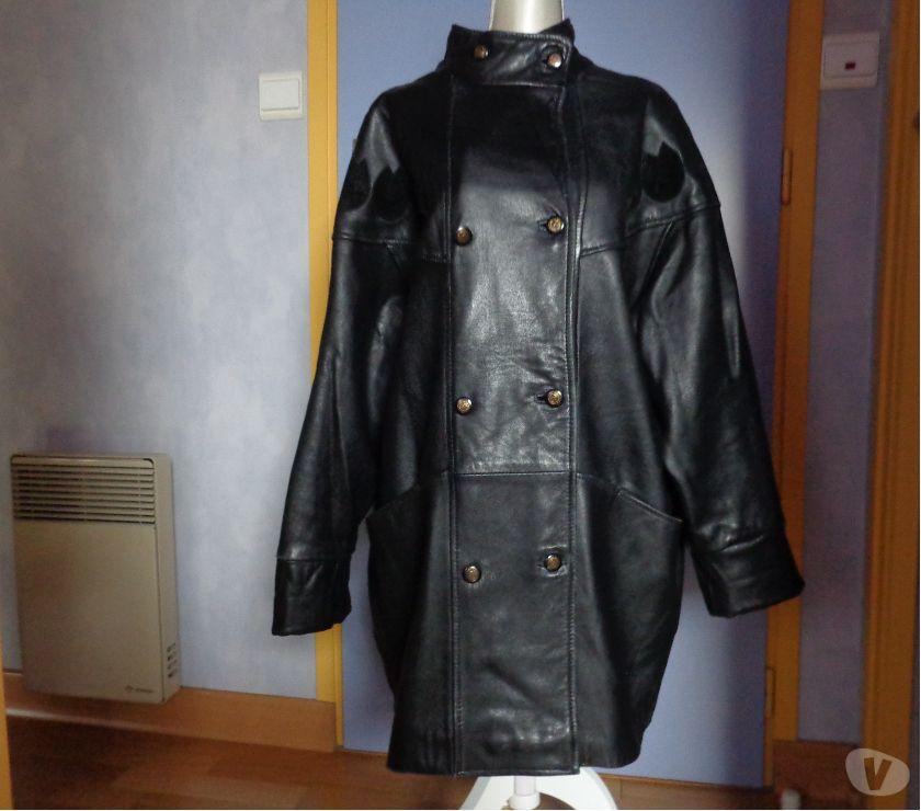 Vêtements occasion Morbihan Theix - 56450 - Photos Vivastreet Manteau cuir agneau doublé.