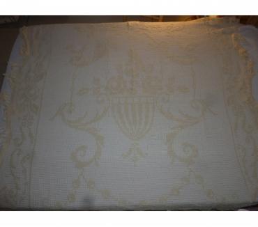 Photos Vivastreet Dessus de lit macramé brodé beige coton