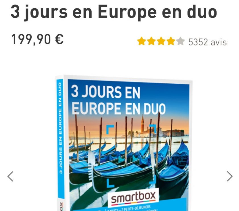 Photos Vivastreet Coffret smartbox valeur 199€