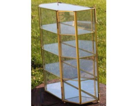 Photos Vivastreet Meuble miroir en verre et ossature laiton