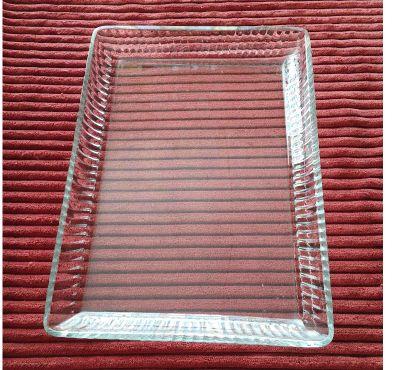 Photos Vivastreet PLATEAU RECTANGULAIRE en cristal à aile relevée