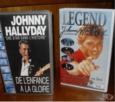 Photos Vivastreet cassettes vidéos VHS ..Johnny Hallyday