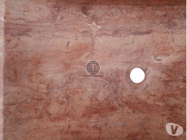 Travertin Rose Rouge Evier 70 X 50 Cm En Stock Forcalqueiret