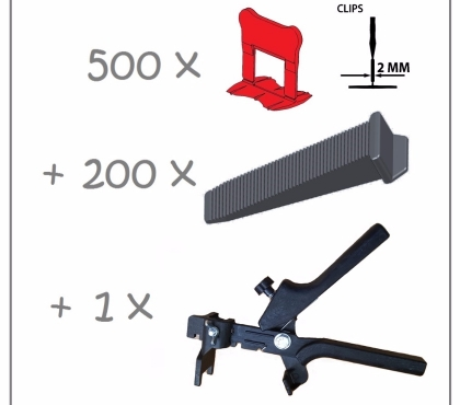 Photos Vivastreet Kit 2mm 500clips+200coins+pince polyamide PERFECTLEVEL PRO