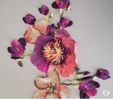 Photos Vivastreet Fleur en tissu brodé 57x22 cm à coudre