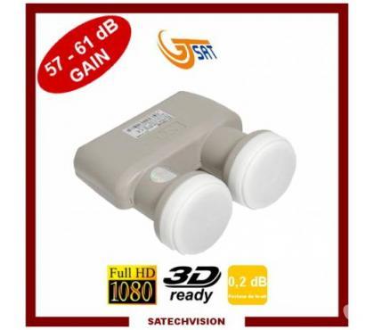Photos Vivastreet LNB Monobloc 6° Twin GT-SAT Bruit 0,2 dB Gain 57-61 dB