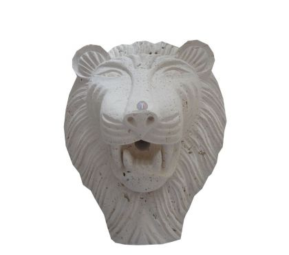 Photos Vivastreet Travertin Classique Beige Tête de Lion Sculpture 30x40cm
